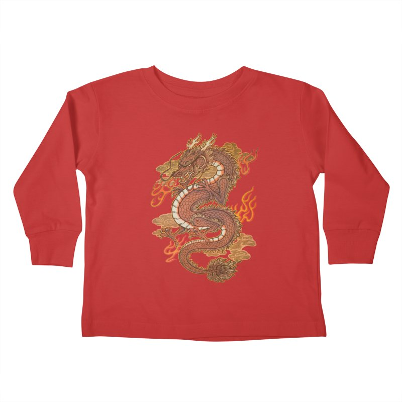 Golden Dragon Kids Toddler Longsleeve T-Shirt by villainmazk's Artist Shop