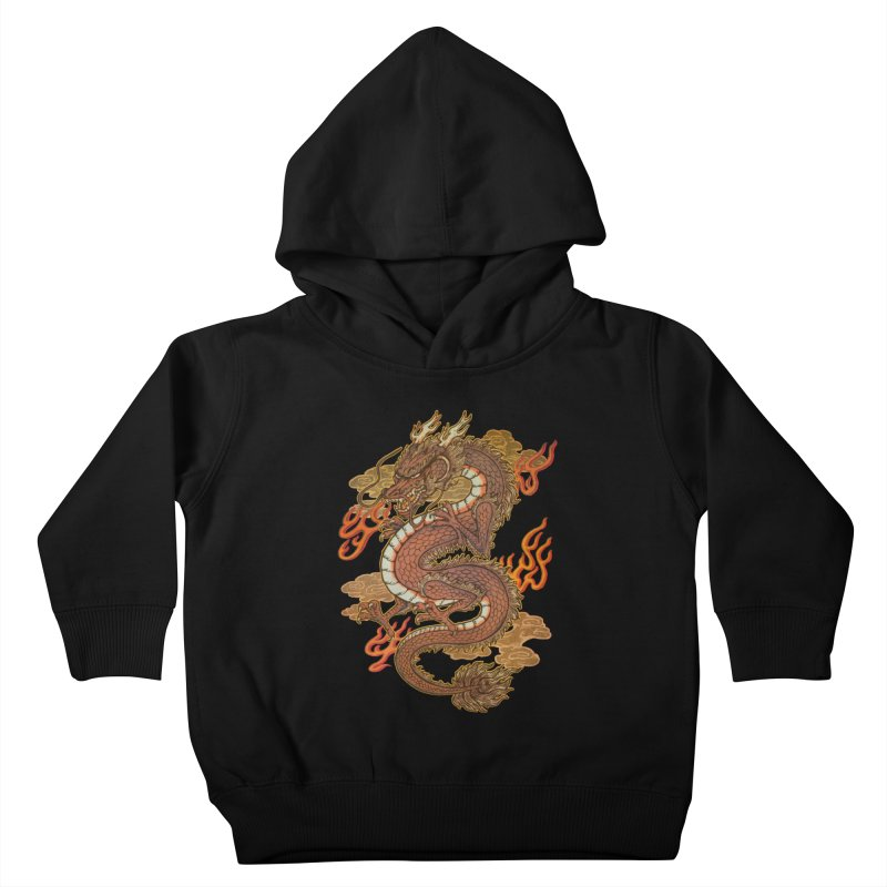Golden Dragon Kids Toddler Pullover Hoody by villainmazk's Artist Shop