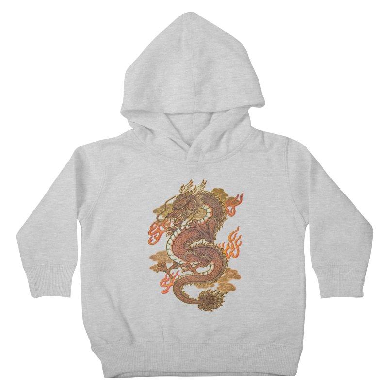 Golden Dragon Kids Toddler Pullover Hoody by villainmazk's Artist Shop