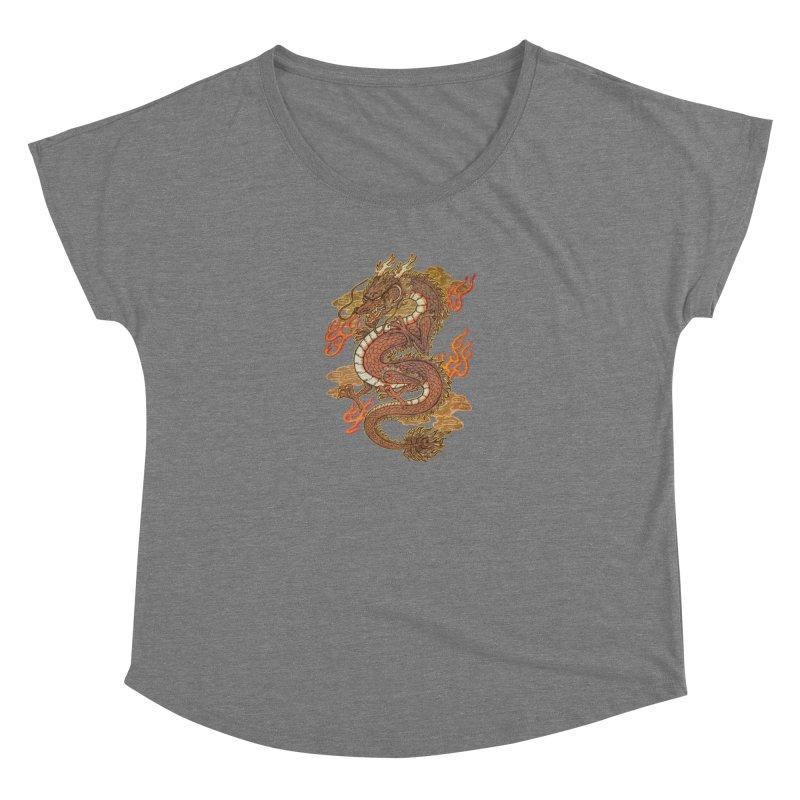 Golden Dragon Women's Scoop Neck by villainmazk's Artist Shop