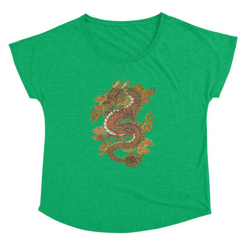 Golden Dragon Women's Dolman Scoop Neck by villainmazk's Artist Shop