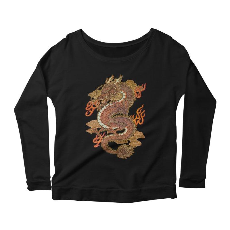 Golden Dragon Women's Scoop Neck Longsleeve T-Shirt by villainmazk's Artist Shop