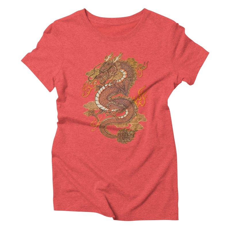 Golden Dragon Women's Triblend T-Shirt by villainmazk's Artist Shop