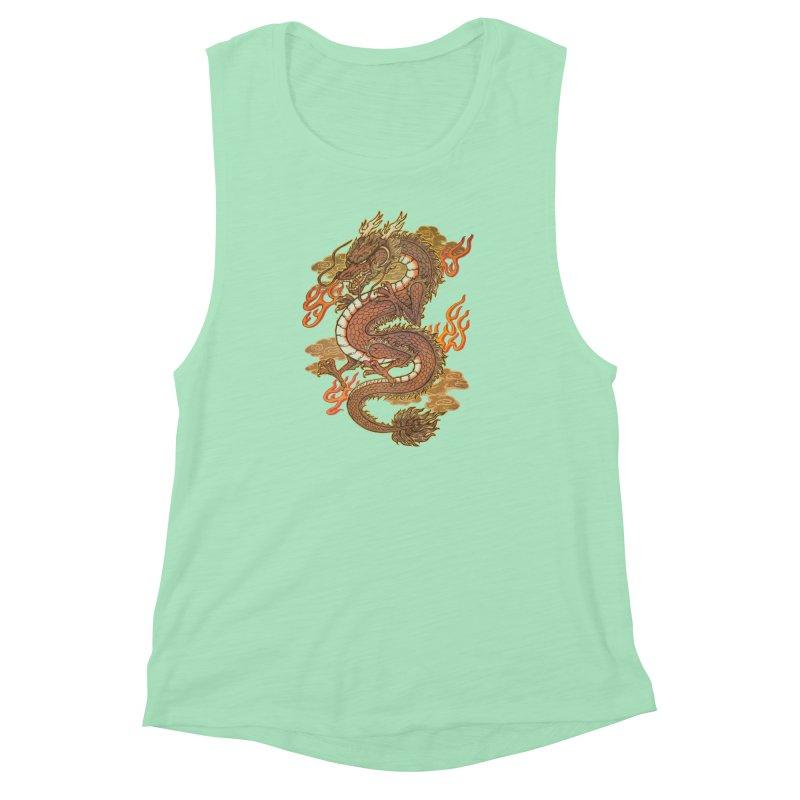 Golden Dragon Women's Muscle Tank by villainmazk's Artist Shop