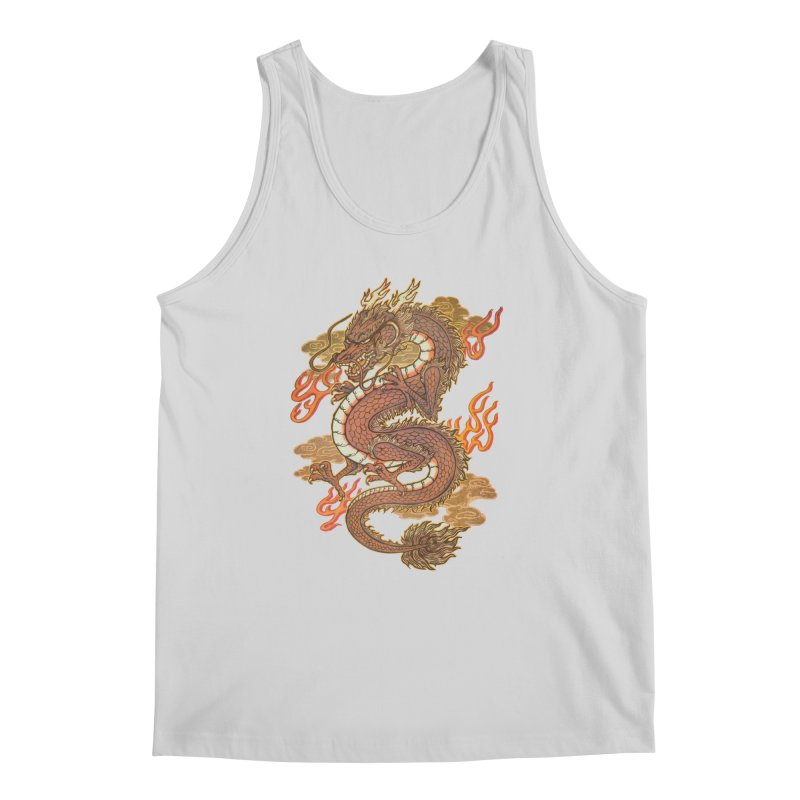 Golden Dragon Men's Regular Tank by villainmazk's Artist Shop