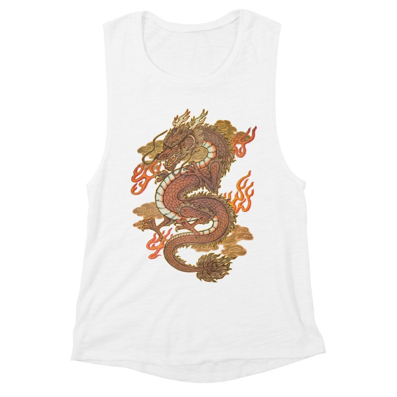 Golden Dragon Women's Muscle Tank by villainmazk's Artist Shop