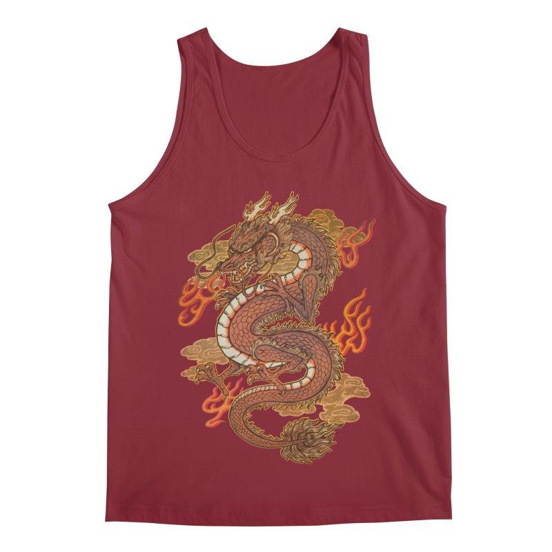 Golden Dragon Men's Tank by villainmazk's Artist Shop