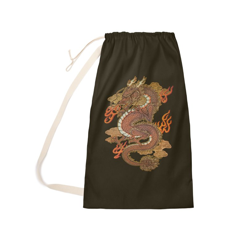 Golden Dragon Accessories Laundry Bag Bag by villainmazk's Artist Shop