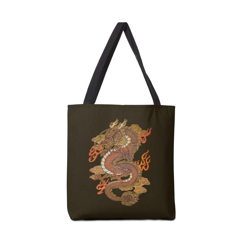 Golden Dragon Accessories Bag by villainmazk's Artist Shop