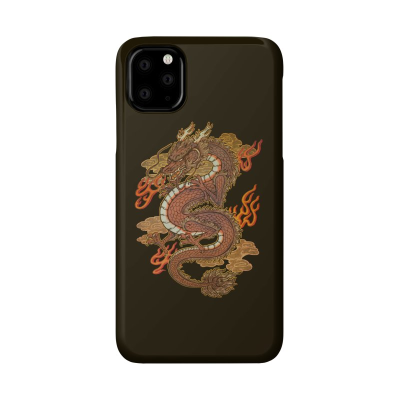 Golden Dragon Accessories Phone Case by villainmazk's Artist Shop