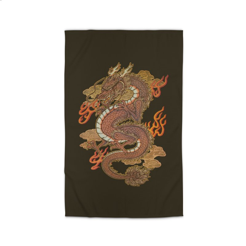 Golden Dragon Home Rug by villainmazk's Artist Shop