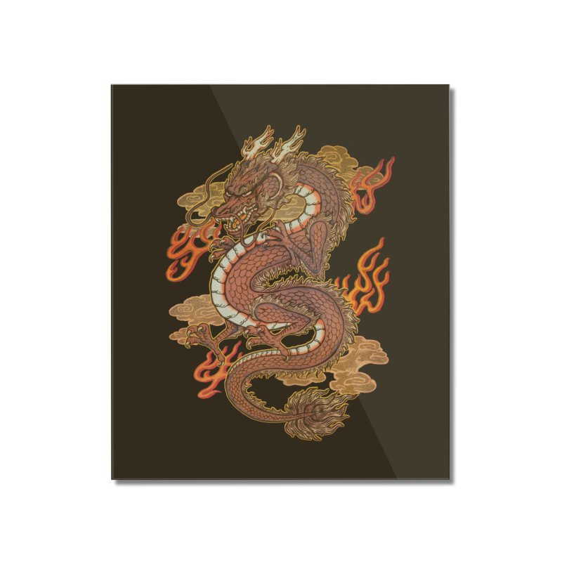 Golden Dragon Home Mounted Acrylic Print by villainmazk's Artist Shop