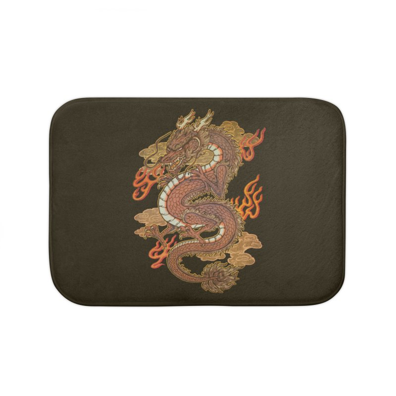 Golden Dragon Home Bath Mat by villainmazk's Artist Shop