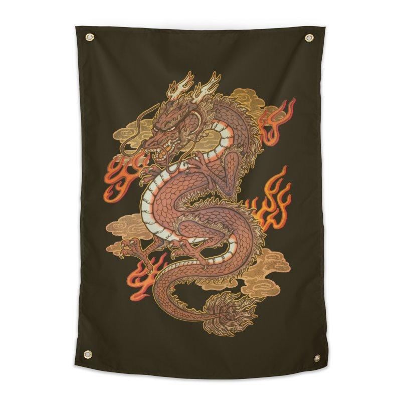 Golden Dragon Home Tapestry by villainmazk's Artist Shop