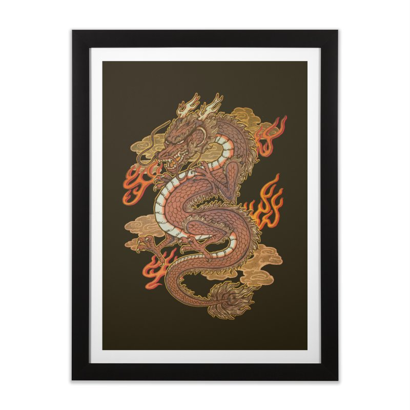 Golden Dragon Home Framed Fine Art Print by villainmazk's Artist Shop