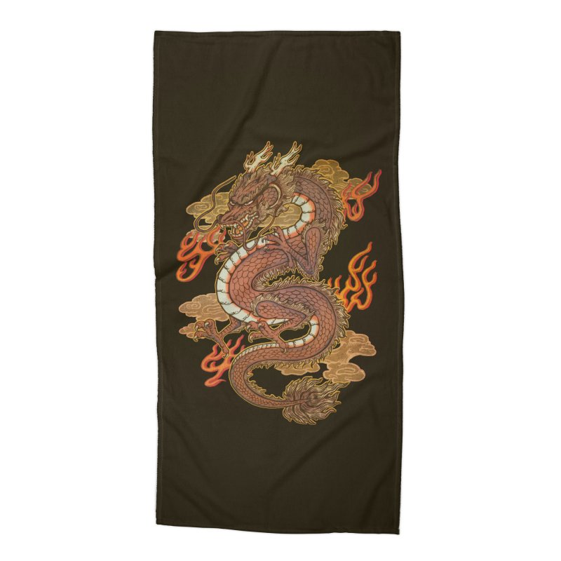 Golden Dragon Accessories Beach Towel by villainmazk's Artist Shop