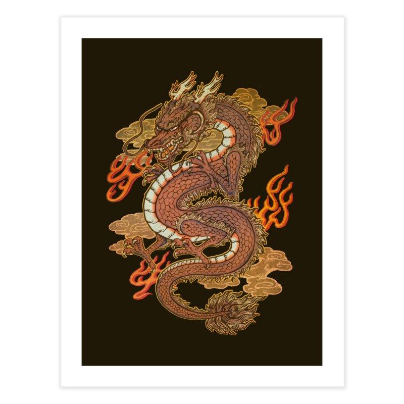 Golden Dragon Home Fine Art Print by villainmazk's Artist Shop
