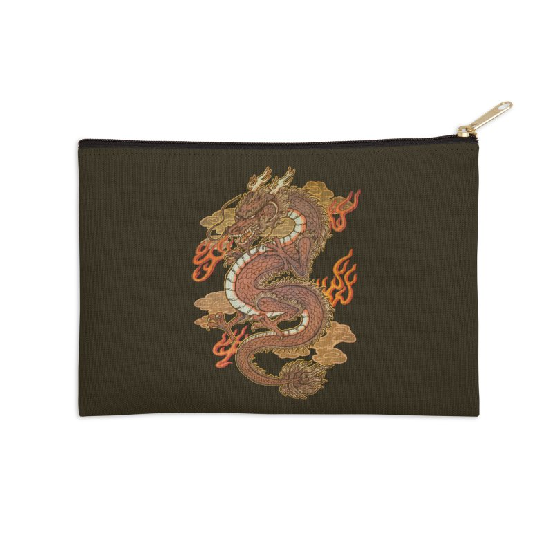 Golden Dragon Accessories Zip Pouch by villainmazk's Artist Shop