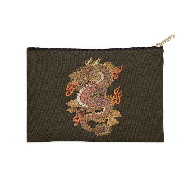 Golden Dragon Accessories Zip Pouch by villainmazk's Artist Shop