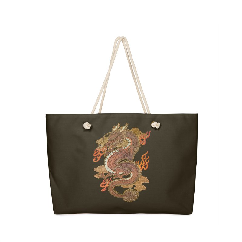 Golden Dragon Accessories Bag by villainmazk's Artist Shop