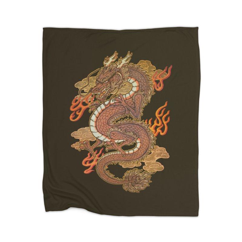 Golden Dragon Home Blanket by villainmazk's Artist Shop