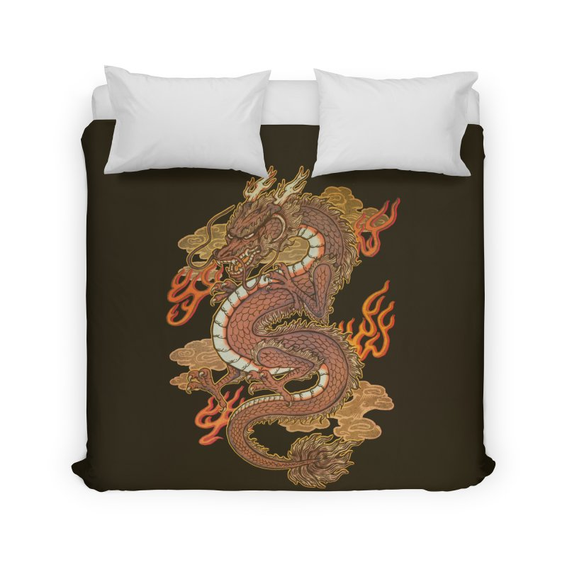 Golden Dragon Home Duvet by villainmazk's Artist Shop