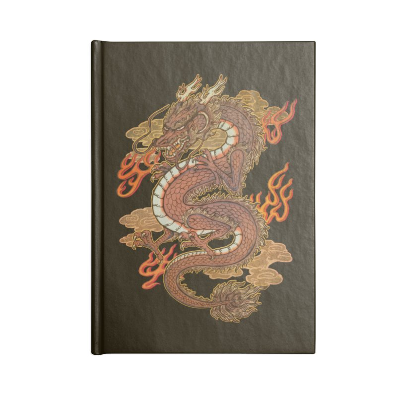 Golden Dragon Accessories Blank Journal Notebook by villainmazk's Artist Shop