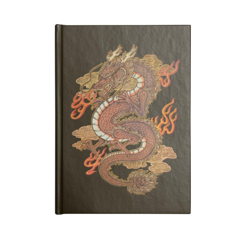 Golden Dragon Accessories Lined Journal Notebook by villainmazk's Artist Shop