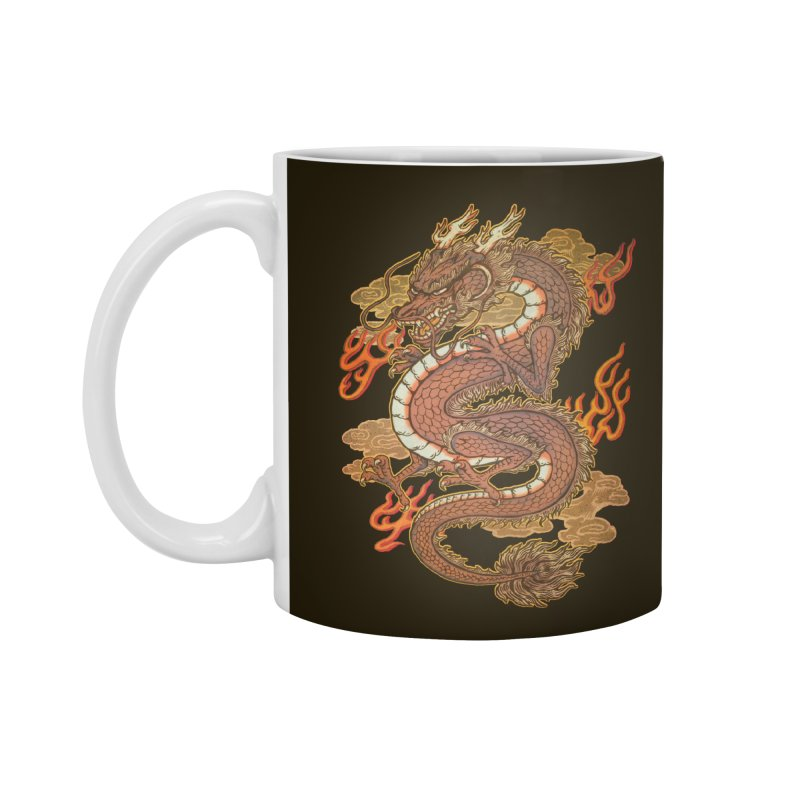 Golden Dragon Accessories Mug by villainmazk's Artist Shop