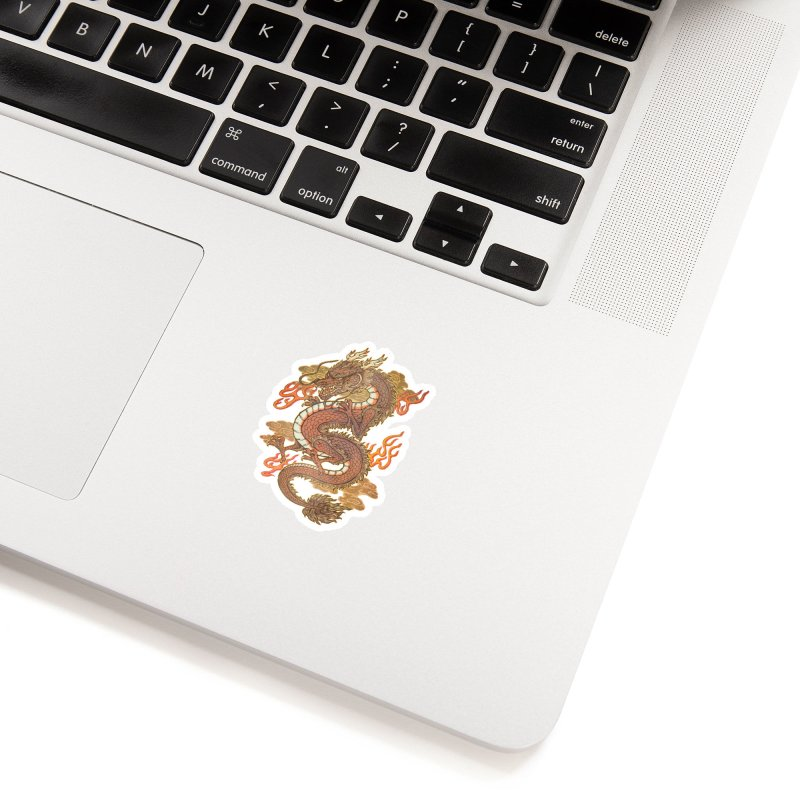 Golden Dragon Accessories Sticker by villainmazk's Artist Shop