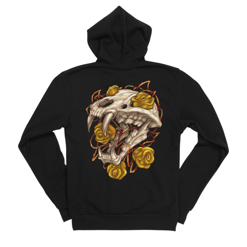 Golden Panther Women's Sponge Fleece Zip-Up Hoody by villainmazk's Artist Shop
