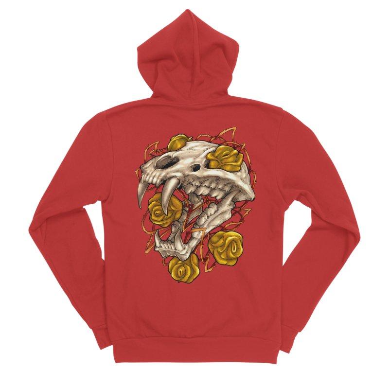 Golden Panther Men's Sponge Fleece Zip-Up Hoody by villainmazk's Artist Shop