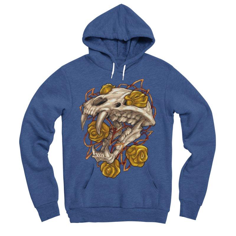 Golden Panther Men's Sponge Fleece Pullover Hoody by villainmazk's Artist Shop