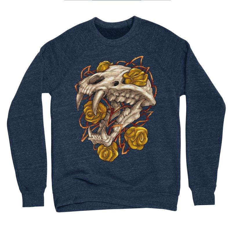 Golden Panther Women's Sponge Fleece Sweatshirt by villainmazk's Artist Shop
