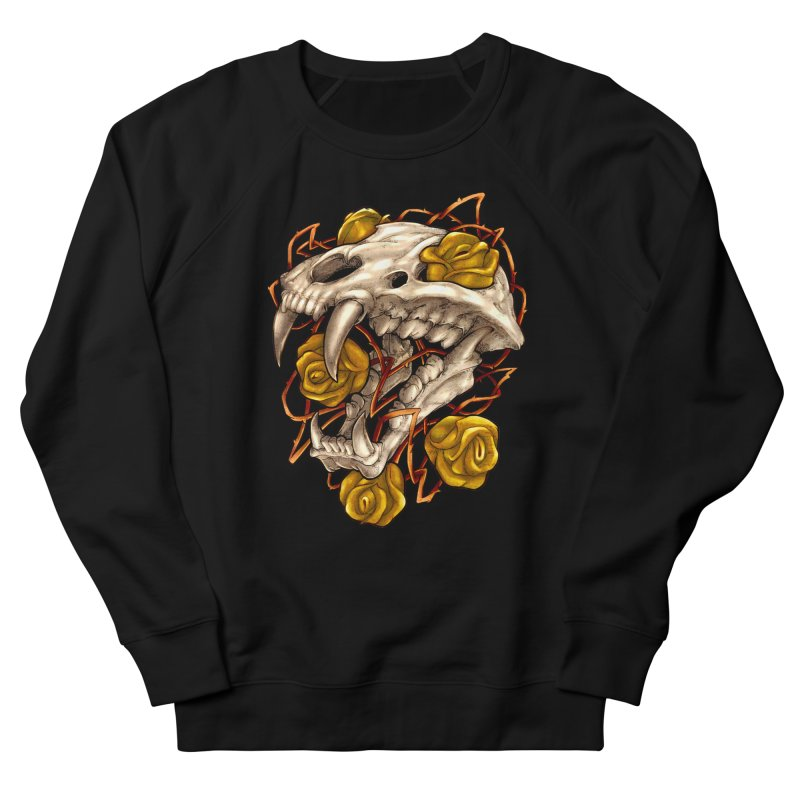 Golden Panther in Men's French Terry Sweatshirt Black by villainmazk's Artist Shop