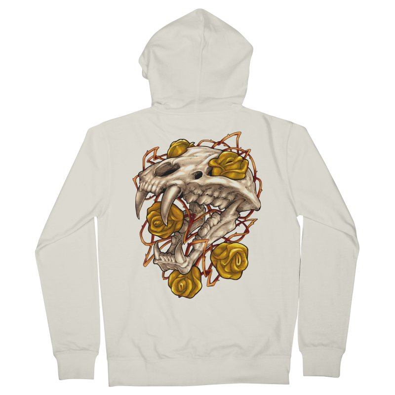 Golden Panther Women's French Terry Zip-Up Hoody by villainmazk's Artist Shop