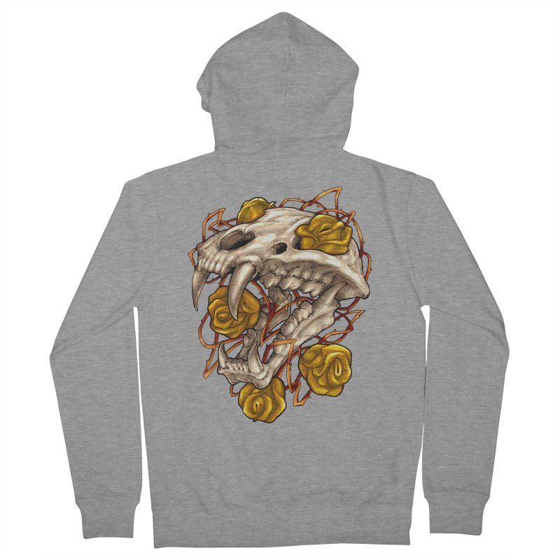Golden Panther Men's French Terry Zip-Up Hoody by villainmazk's Artist Shop