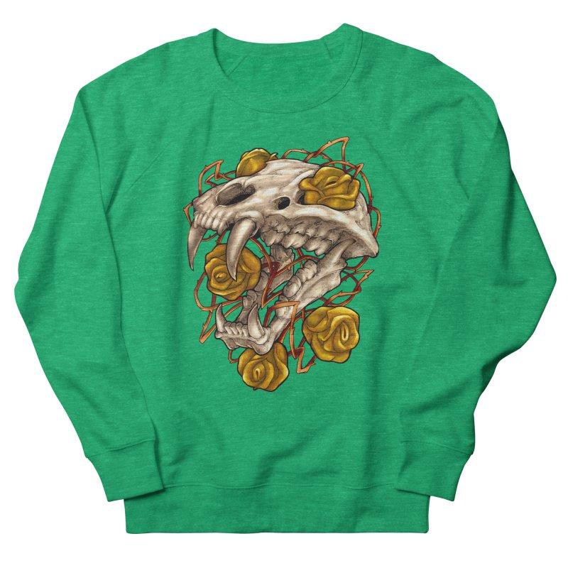 Golden Panther Women's French Terry Sweatshirt by villainmazk's Artist Shop