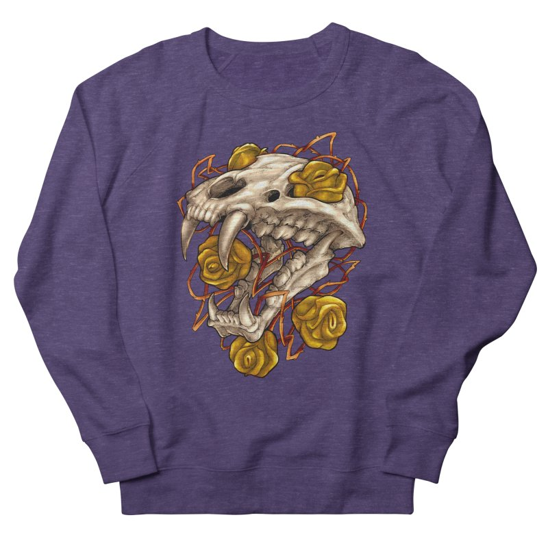 Golden Panther Women's French Terry Sweatshirt by villainmazk's Artist Shop