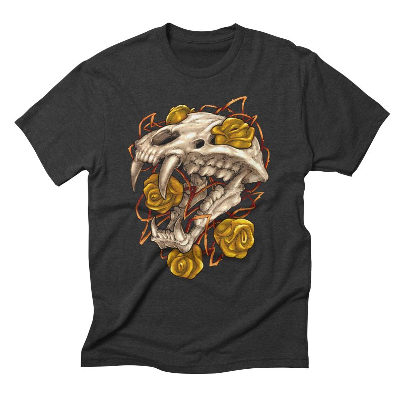 Golden Panther Men's Triblend T-Shirt by villainmazk's Artist Shop