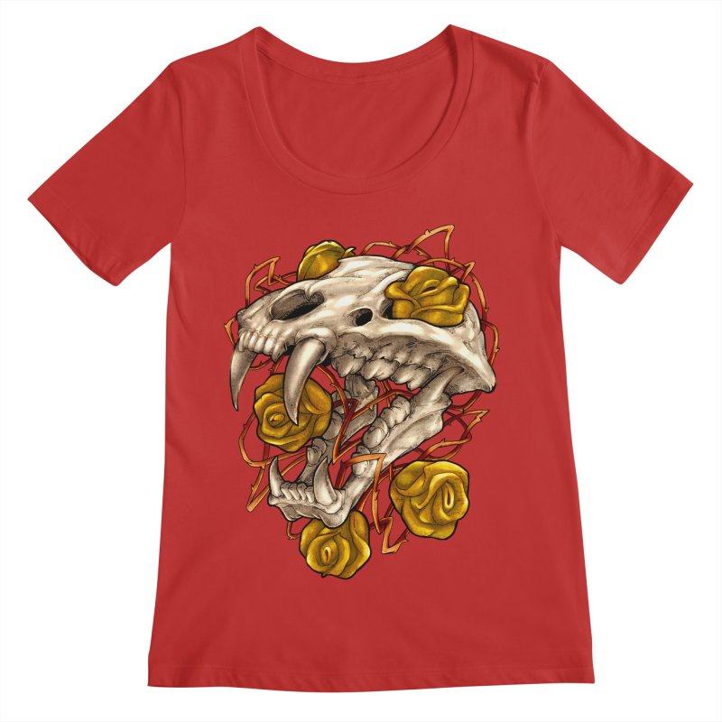 Golden Panther Women's Regular Scoop Neck by villainmazk's Artist Shop