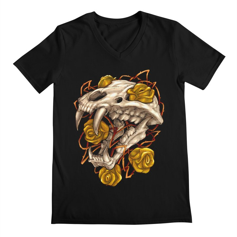 Golden Panther Men's Regular V-Neck by villainmazk's Artist Shop