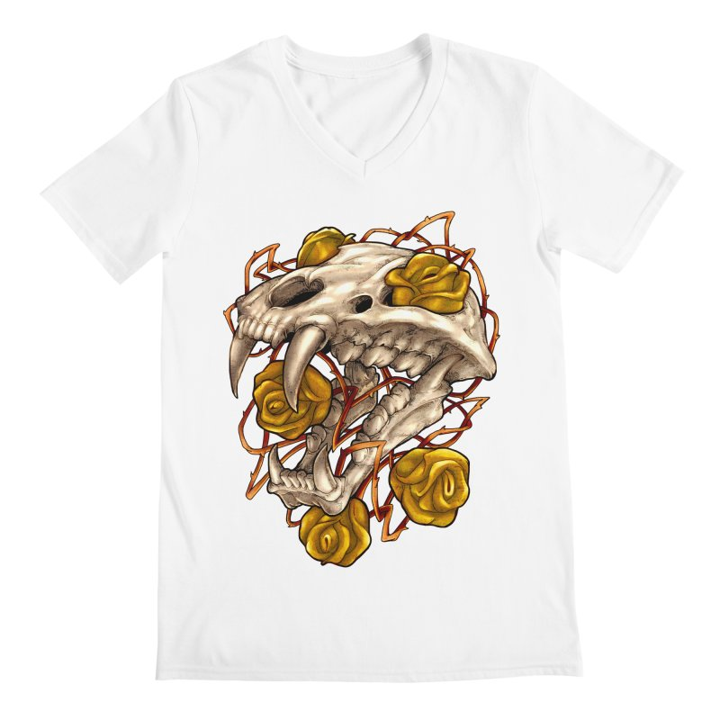 Golden Panther Men's V-Neck by villainmazk's Artist Shop