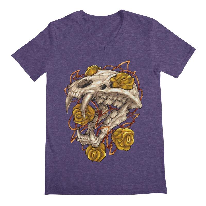 Golden Panther Men's Regular V-Neck by villainmazk's Artist Shop