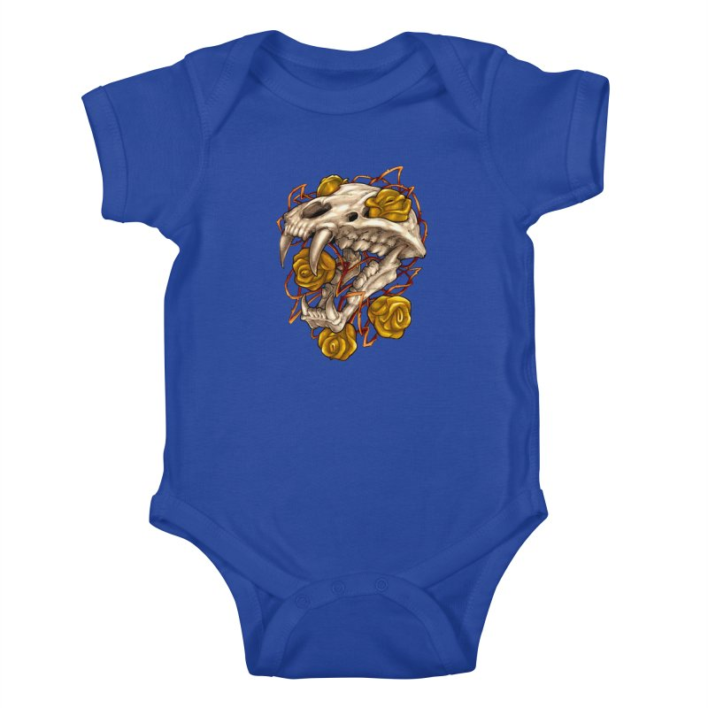 Golden Panther Kids Baby Bodysuit by villainmazk's Artist Shop