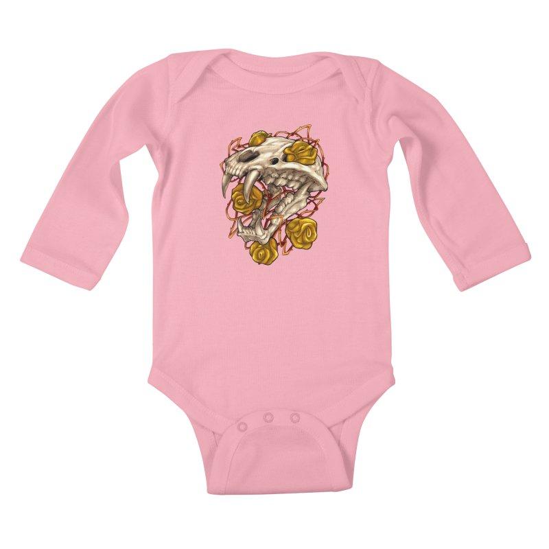 Golden Panther Kids Baby Longsleeve Bodysuit by villainmazk's Artist Shop