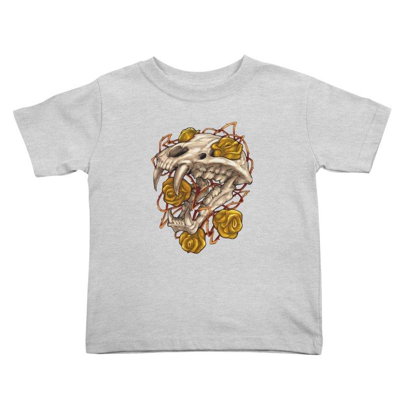 Golden Panther Kids Toddler T-Shirt by villainmazk's Artist Shop