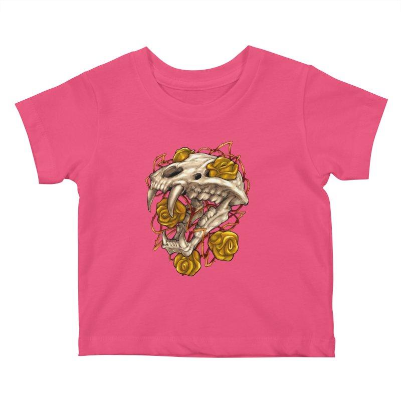 Golden Panther Kids Baby T-Shirt by villainmazk's Artist Shop