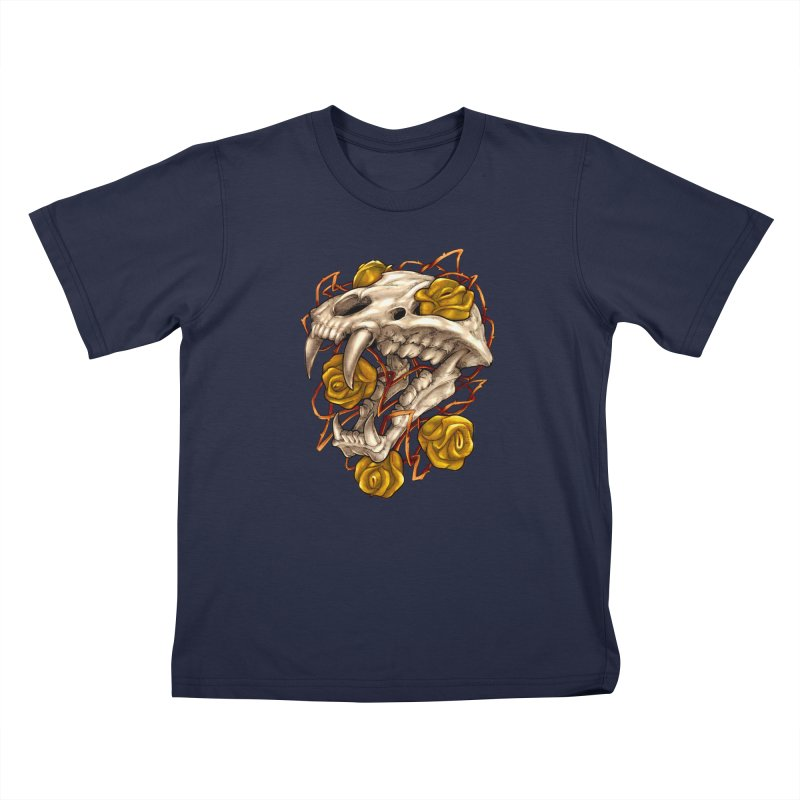 Golden Panther Kids T-Shirt by villainmazk's Artist Shop