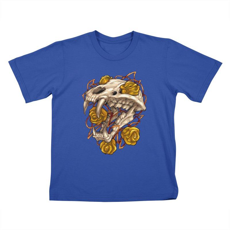 Golden Panther Kids T-Shirt by villainmazk's Artist Shop